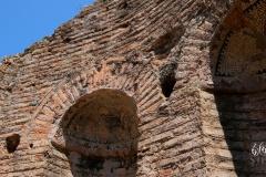 zachowane mozaiki - ruiny gimnazjonu