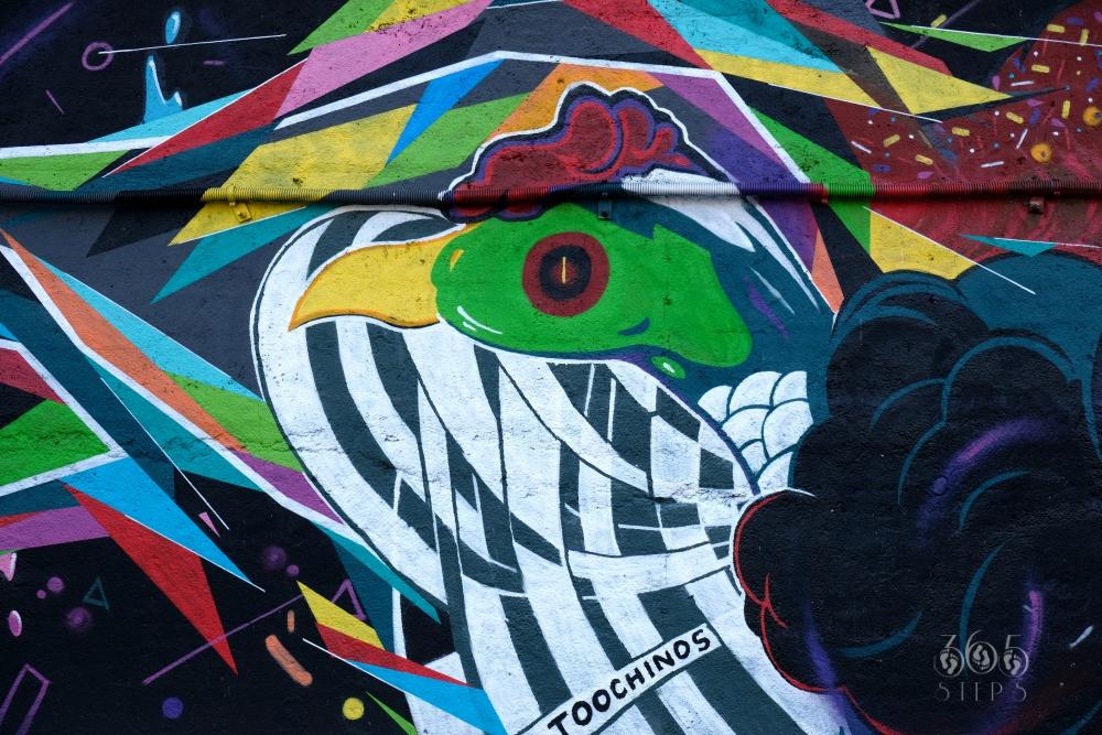 graffiti w Cieszynie, znajdujące się na murze pod Mostem Wolności