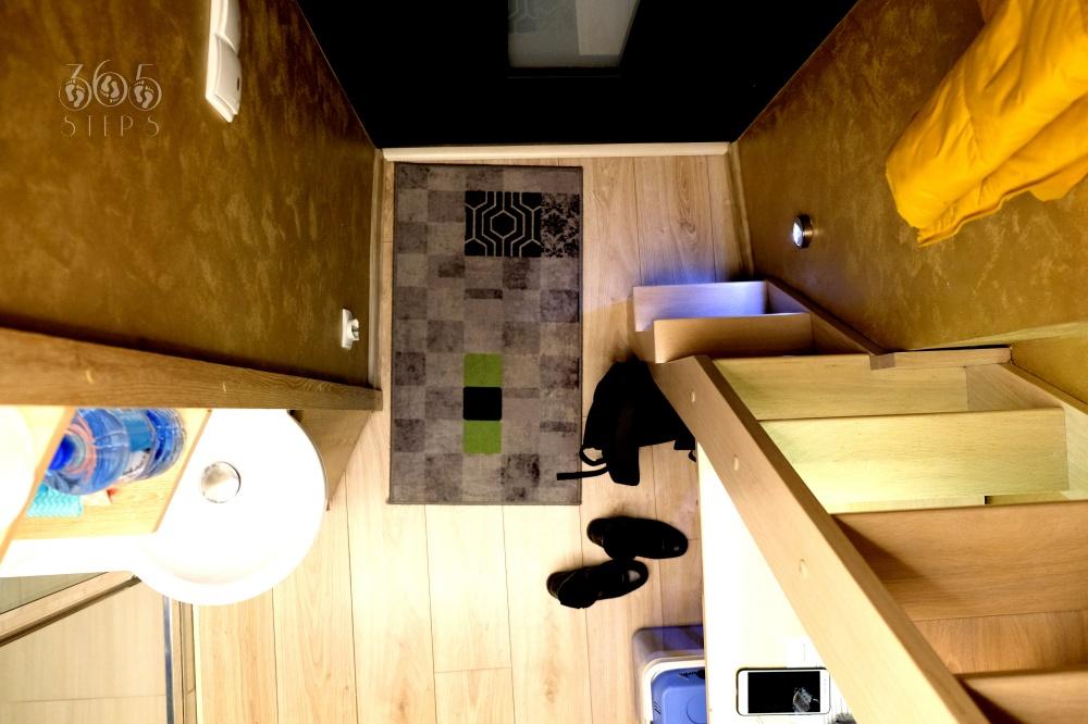 Apartament XXS w Krakowie - widok z antresoli